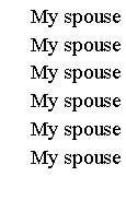 My spouse